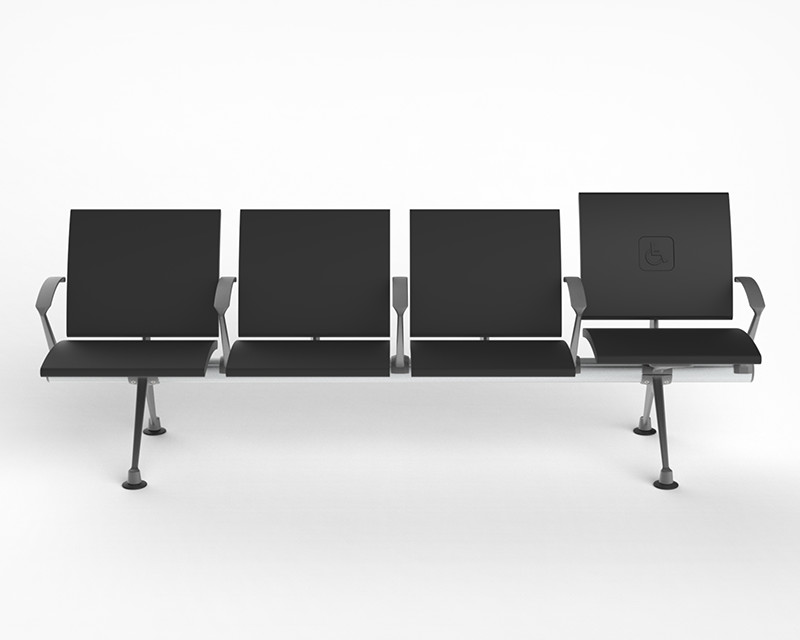 row of flite seats with raised chair prm