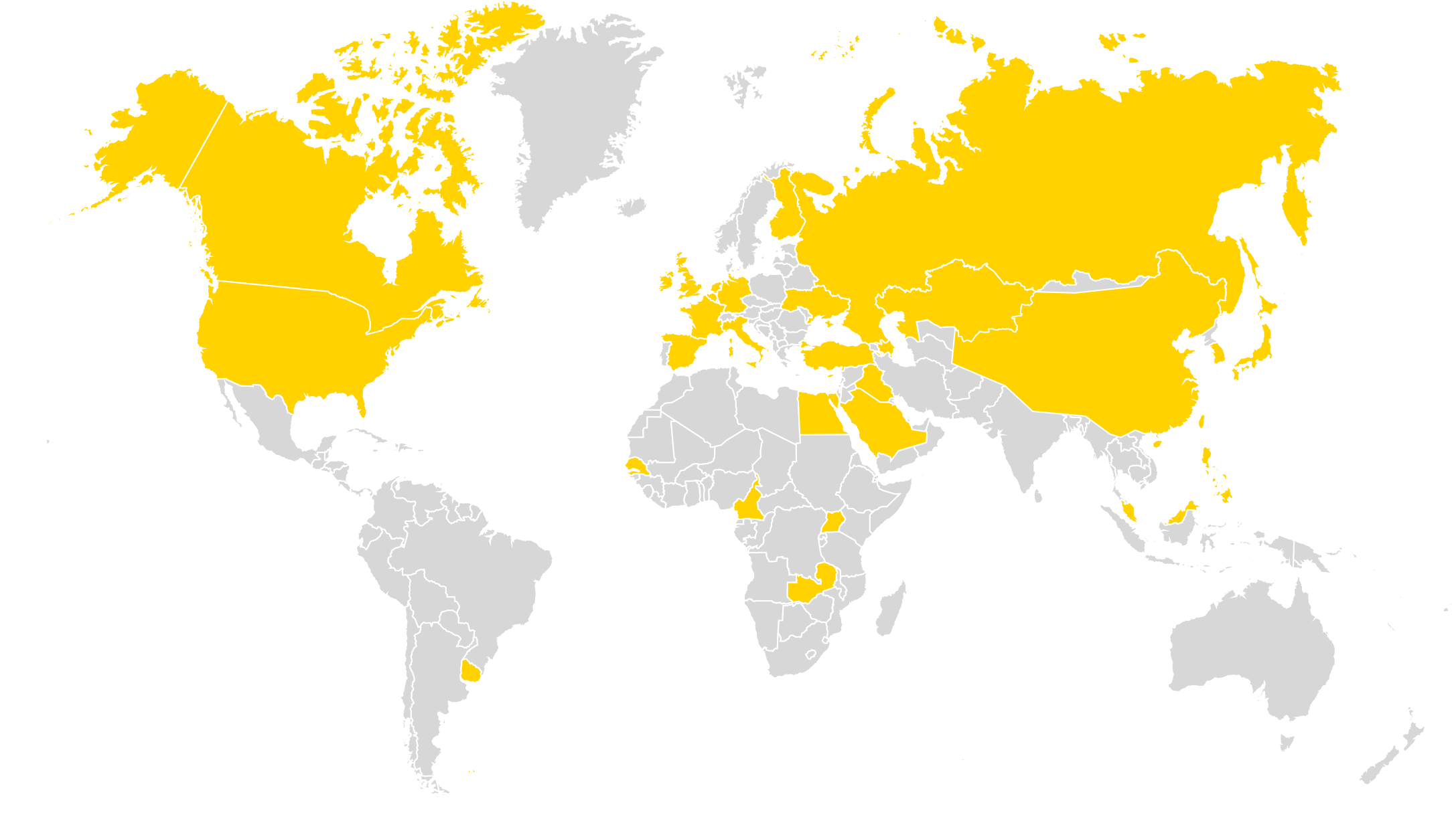world map showing global omk installations and projects