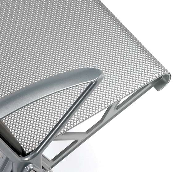 rigid aluminium public space seat
